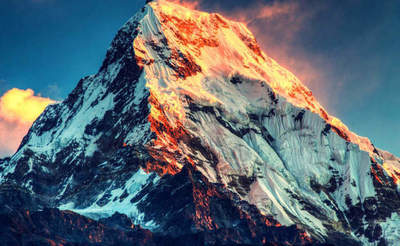 Striking the conquest of Mount Everest