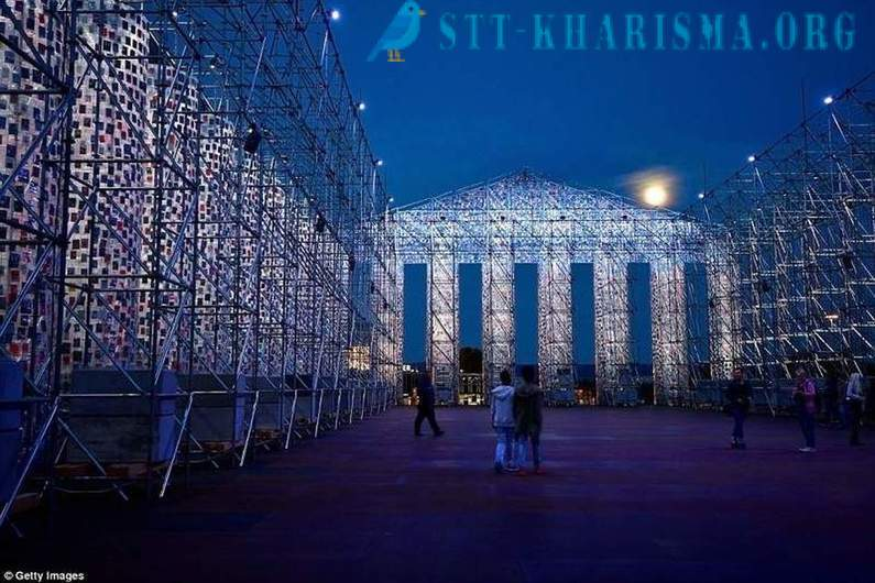 A giant replica of the Parthenon in Germany