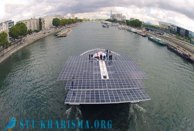 The world's largest solar-powered boat to