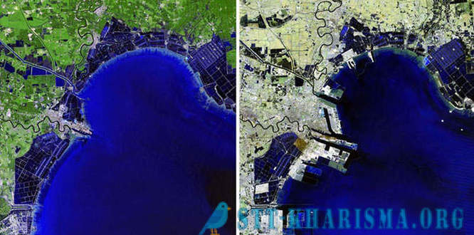 As people change Earth - satellite images