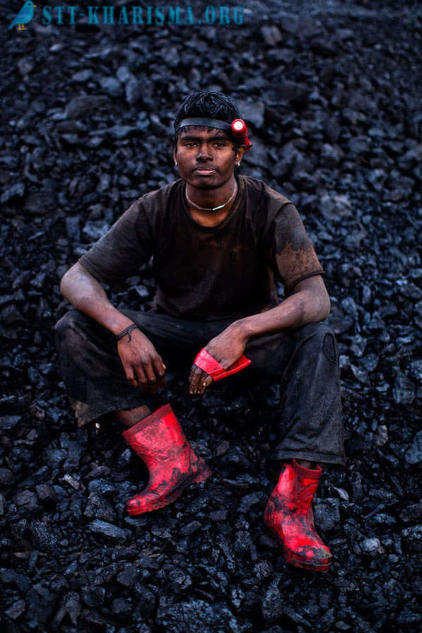 Extraction of coal in the world